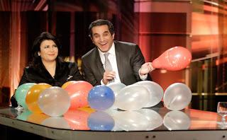 باسم يوسف يحتفل برأس السنة مع مني الشاذلي