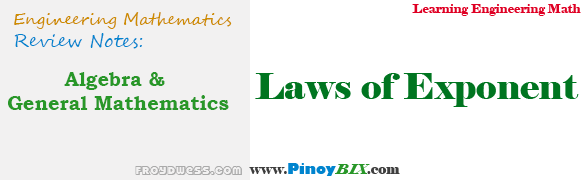 Algebra and General Mathematics: Laws of Exponents