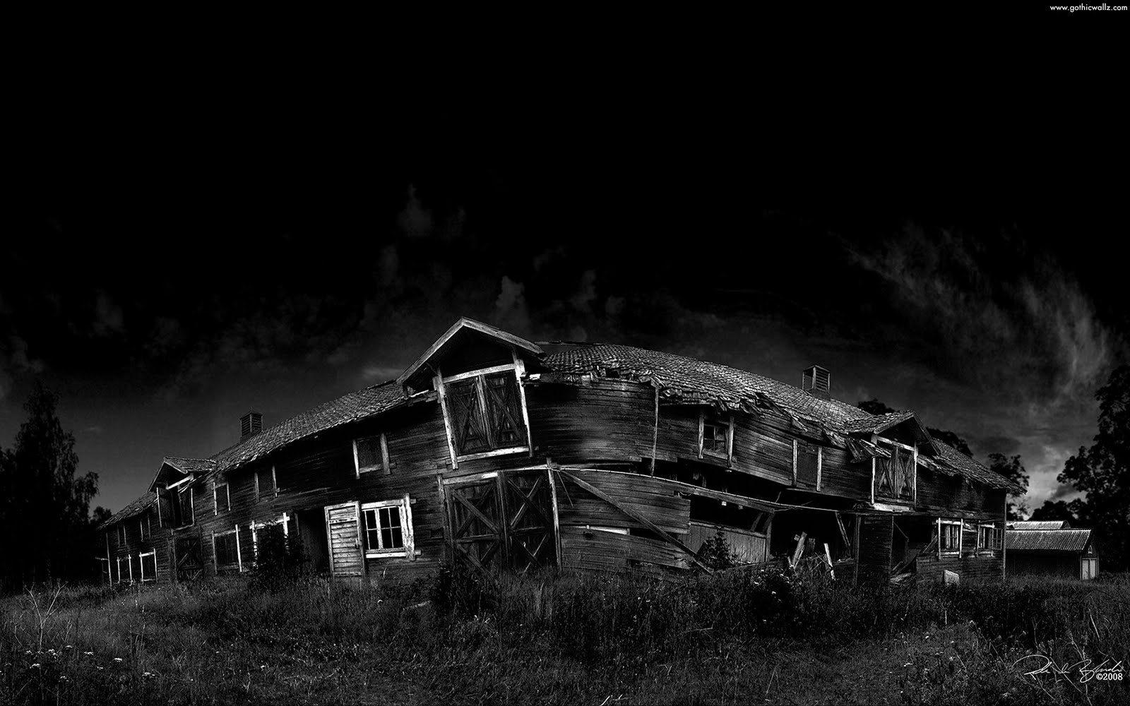 Creepy House | Gothic Wallpaper Download