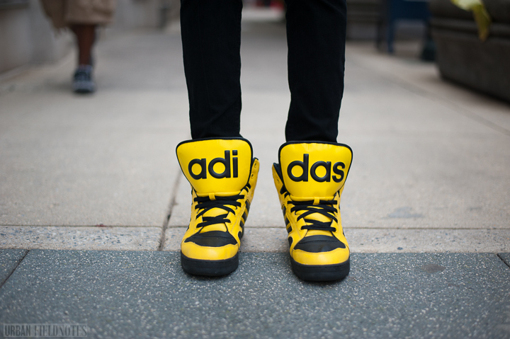 yellow adidas hightops
