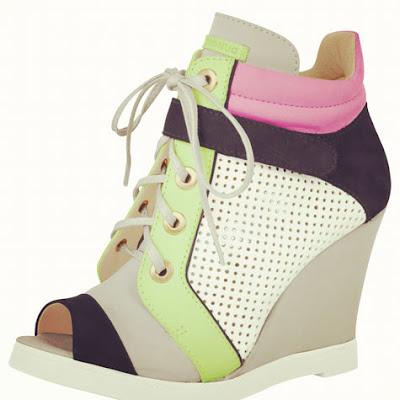 Tênis Sneakers feminino verão colorido