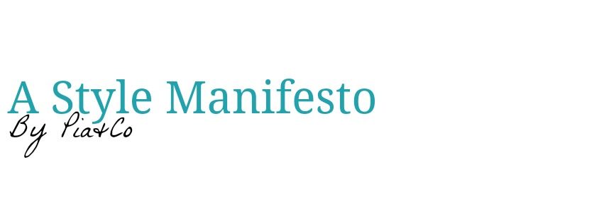 a style manifesto
