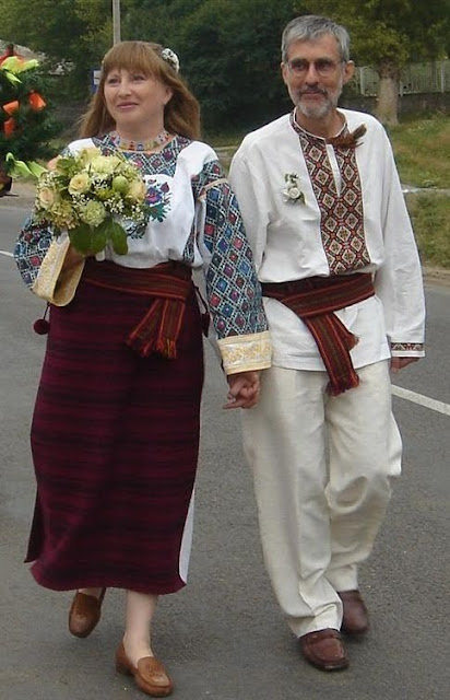 Ukrainian Wedding Bride Groom Embroidered Outfits