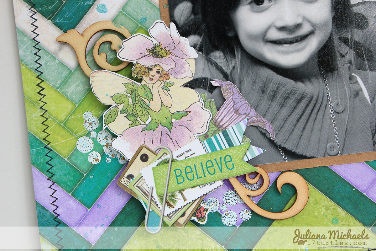 Live Your Own Fairytale Scrapbook Page by Juliana Michaels #bobunny #enchantedgarden #scrapbookpage #stamps