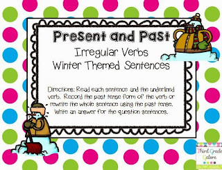 http://www.teacherspayteachers.com/Product/Irregular-Verbs-Past-and-Present-Winter-Theme-1002361