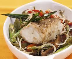 Comida chino peruana pescado al horno con frejol chino for Pescado chino