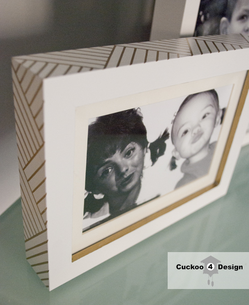 Ikea Ribba frame with gold sharpie details by cuckoo4design