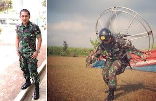 kisah Tentara Tampan dari Pasukan khusus Paragliding TNI AD