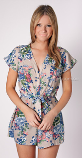ESTHER Reign Floral Playsuit