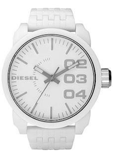 DIESEL #DZ1461 Unisex Large WHITE Plastic WATCH *NWT GR