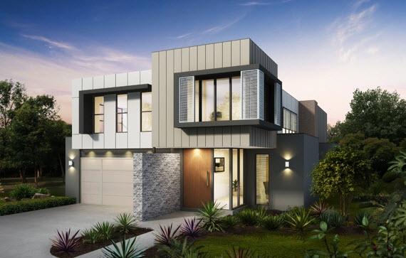 Fachadas de casas modernas con ideas para revestimientos - Ideas para fachadas de casas ...