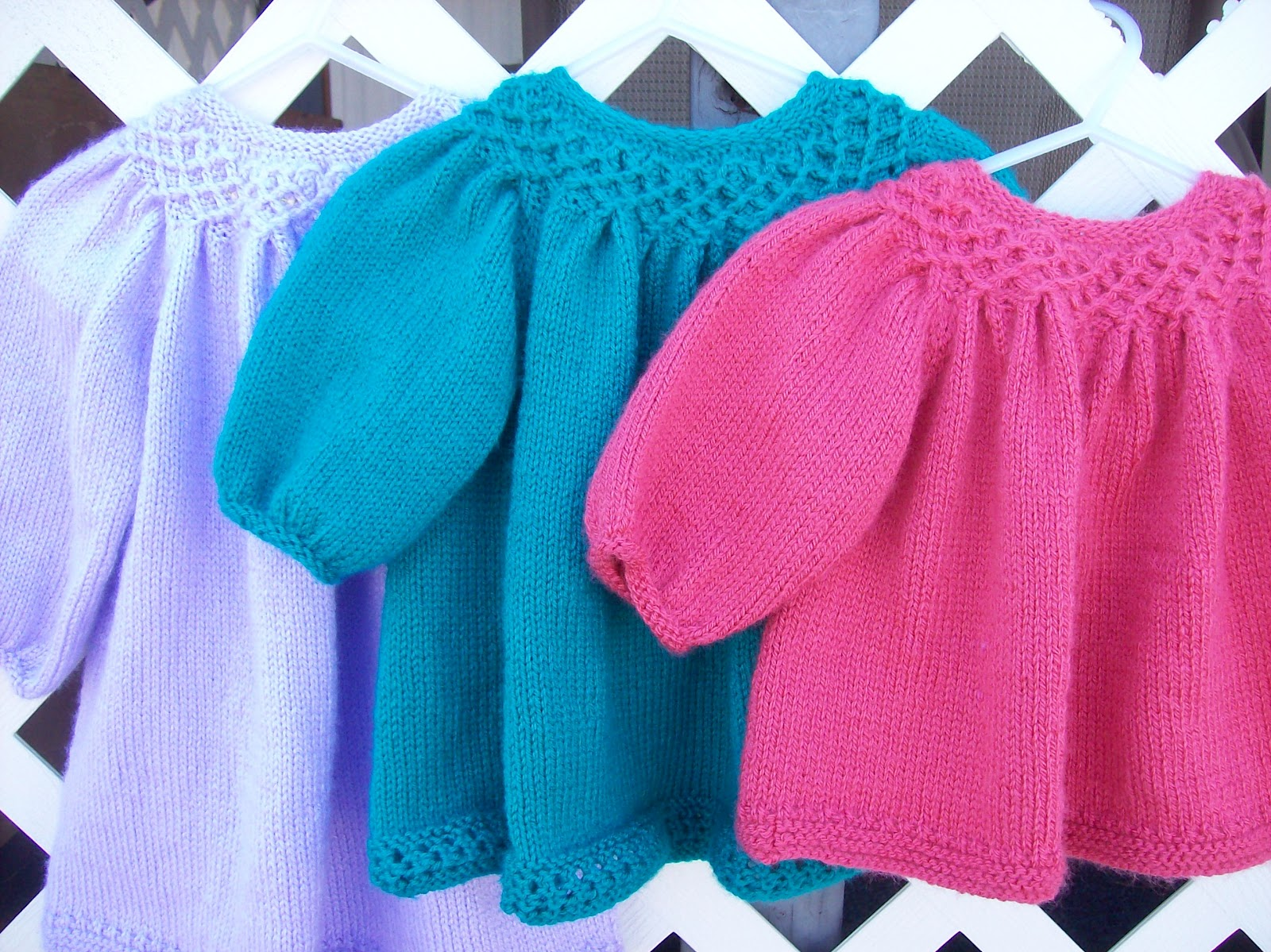 Nan Knits: Knitted Smocked Baby Dress