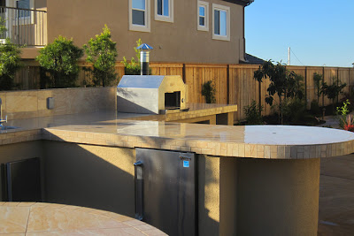 custom-designed outdoor kitchen
