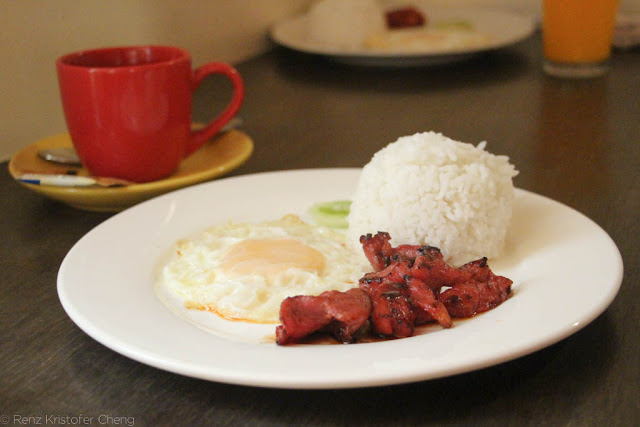 Tocino and egg Breakfast
