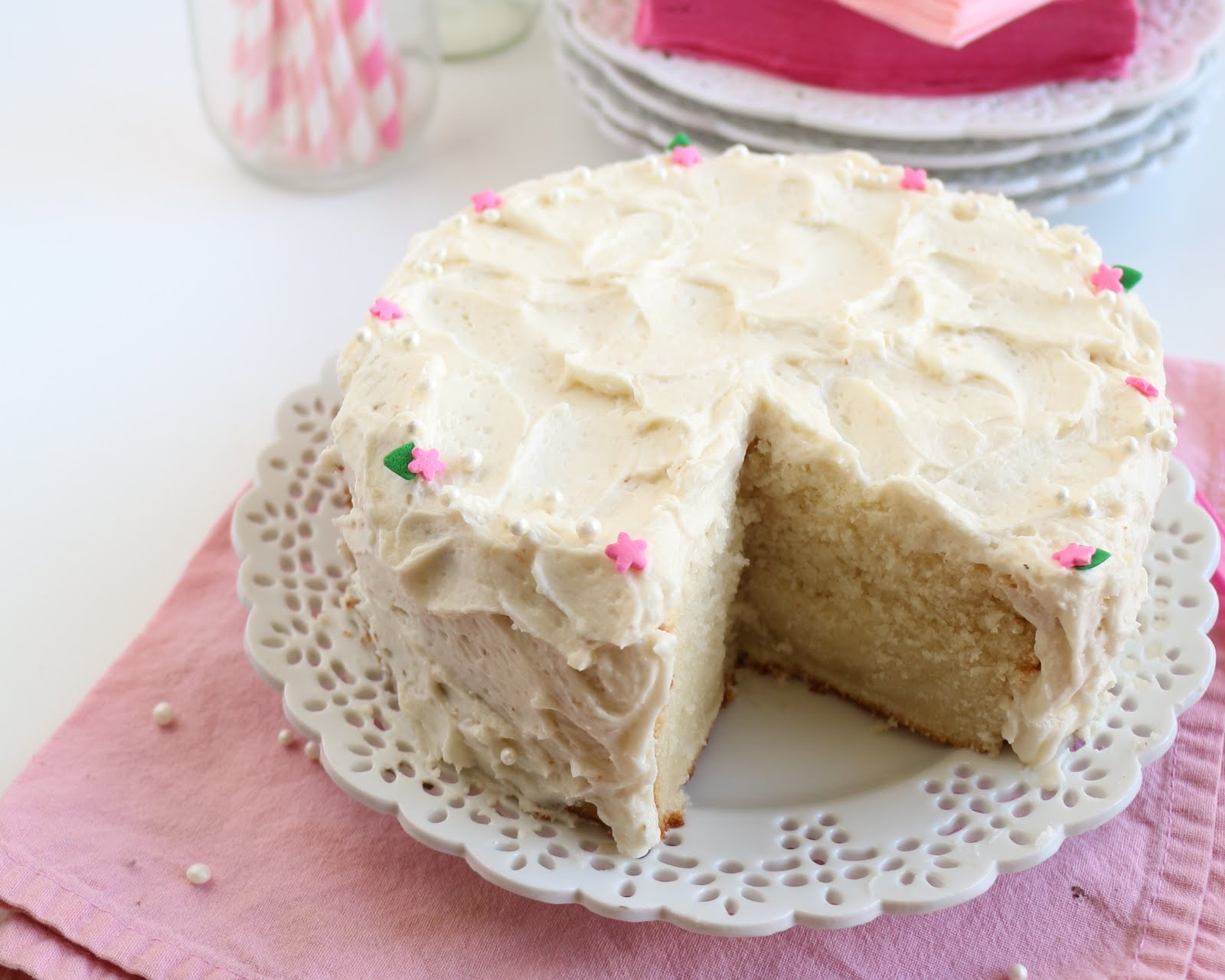 Mini Small Batch Vanilla Cake With Vanilla Buttercream Frosting