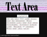 Membuat Text Area