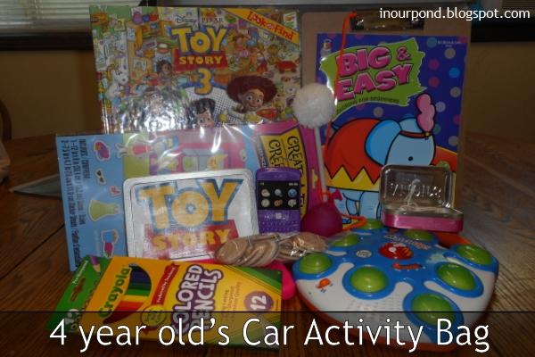 4 Year Old's Car Activity Bag