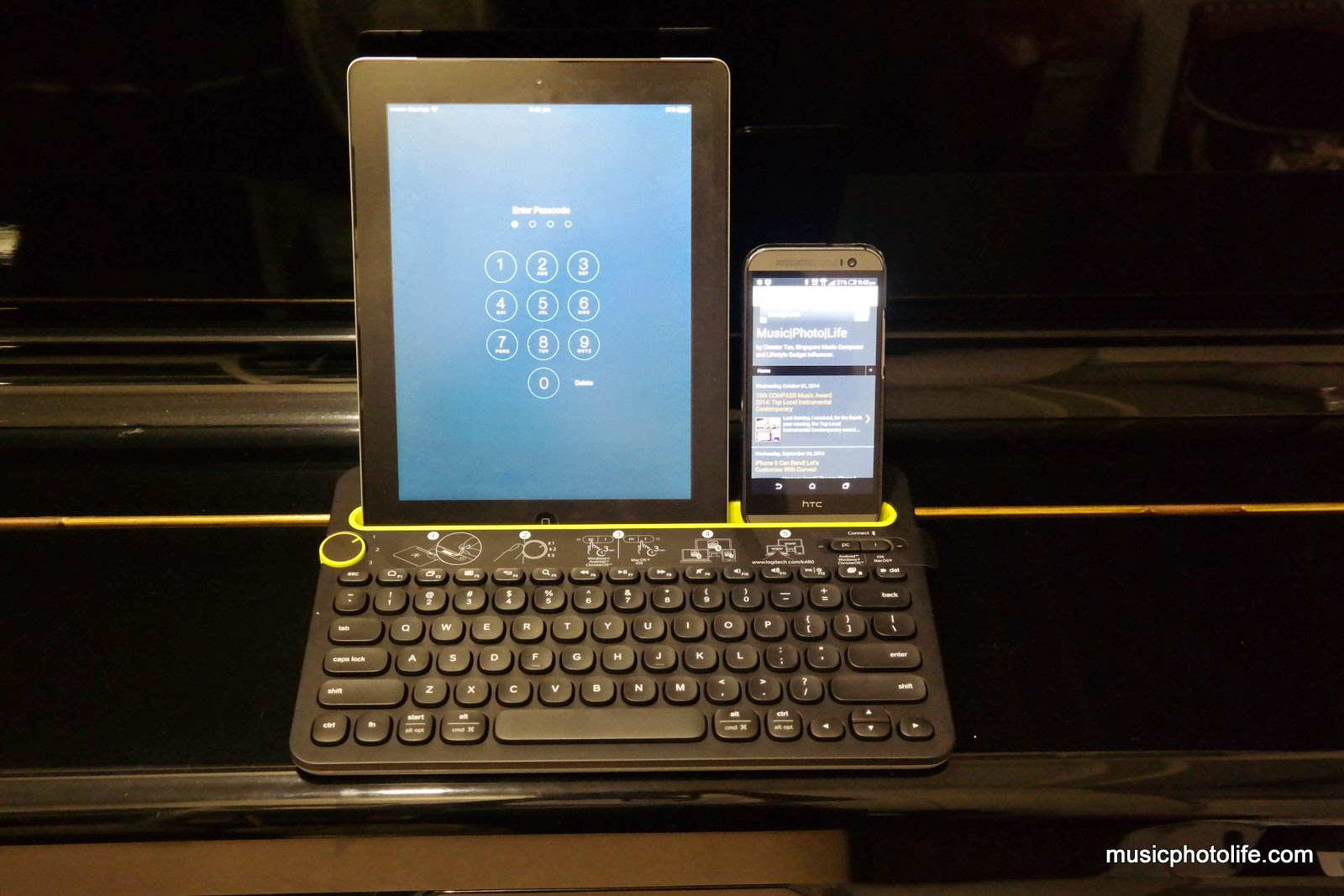 Logitech Bluetooth Multi Device Keyboard K480 Mpl Uat And If You Own The Samsung Galaxy Note Pro 122 Sits Confidently In Portrait Orientation Without Tipping Off