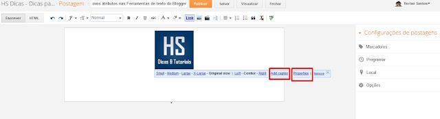 Novos atributos do Blogger