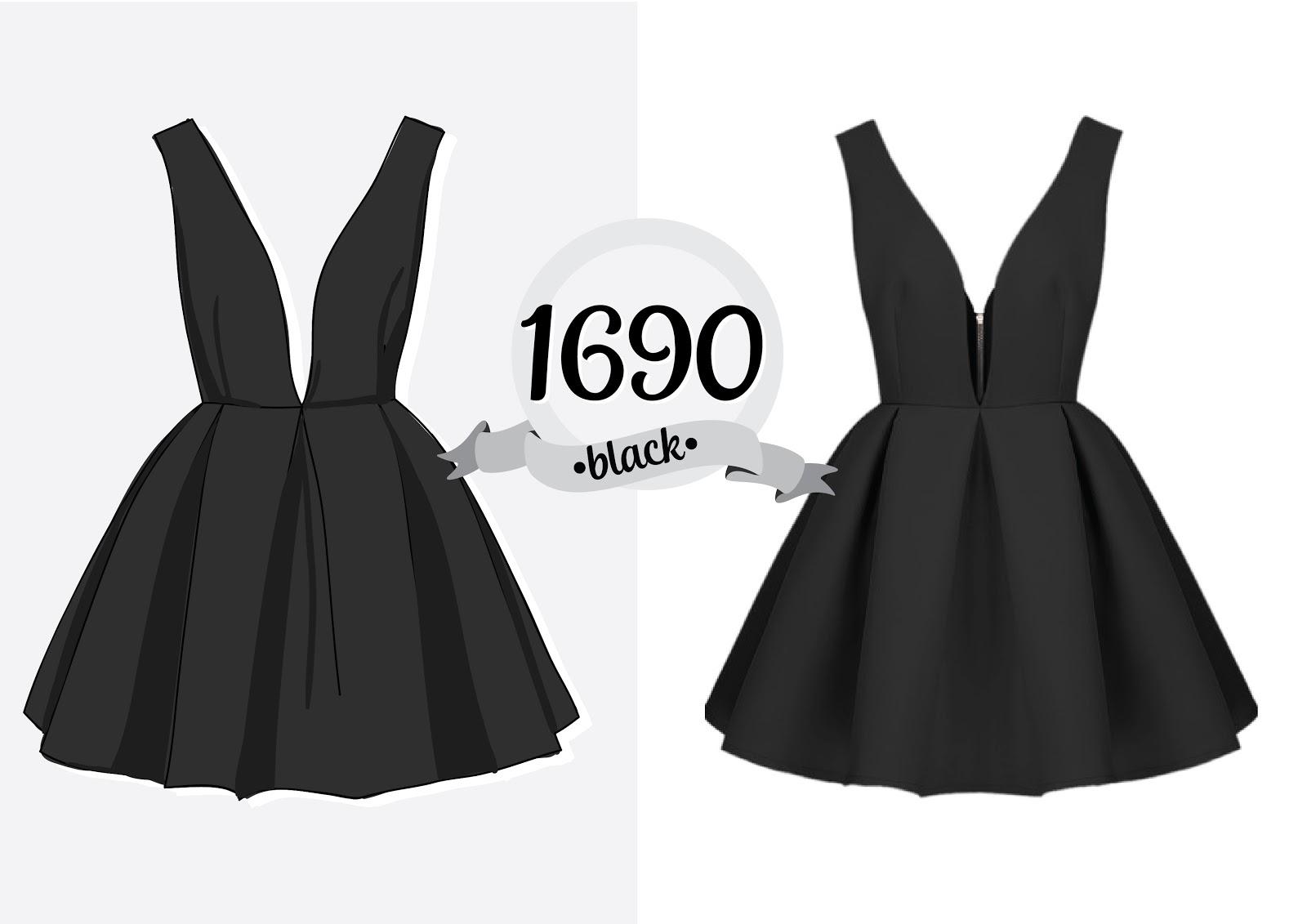 Как самой сшить маленькое черное платье 98