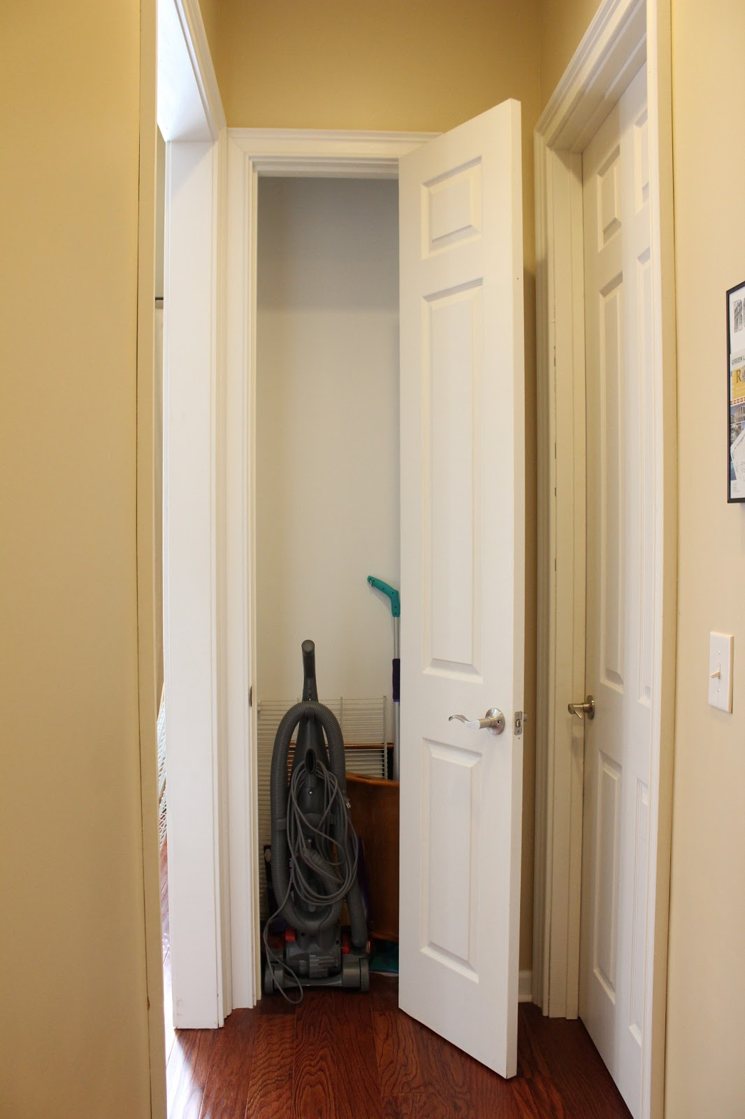 I Decided To Move The Vacuum And Swiffer To The Much Roomier Coat Closet  (which Also Meant I Had To Organize That Closet, More On That Later), ...
