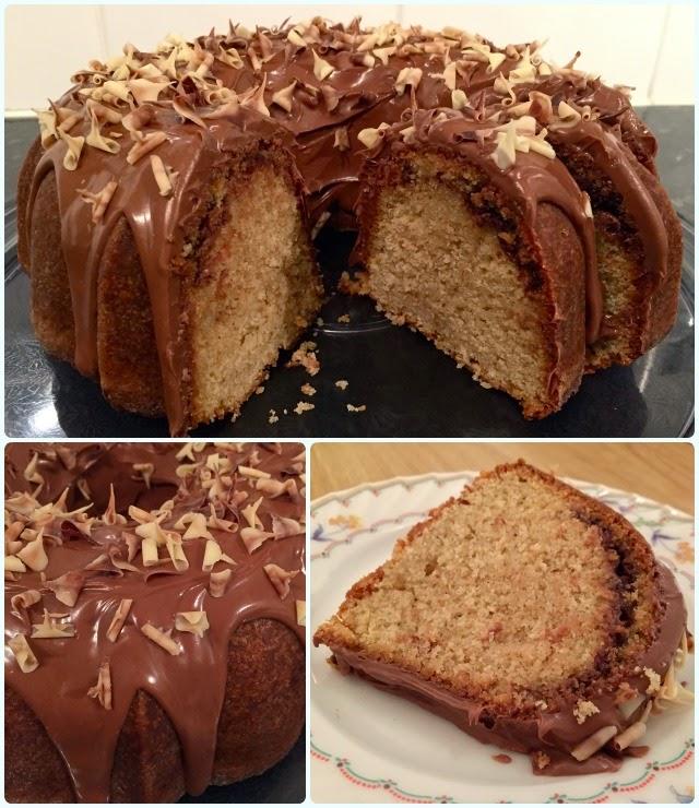 Toffee Choc Bundt Cake