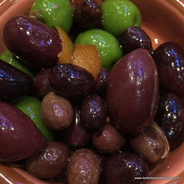 warm citrussed olives at The Barrel Room in San Francisco