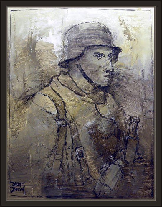 WW2-ART-PAINTINGS-GERMAN SOLDIERS-PINTURAS-ARTE-SOLDADOS ALEMANES-SEGUNDA GUERRA MUNDIAL-PINTOR-ERNEST DESCALS