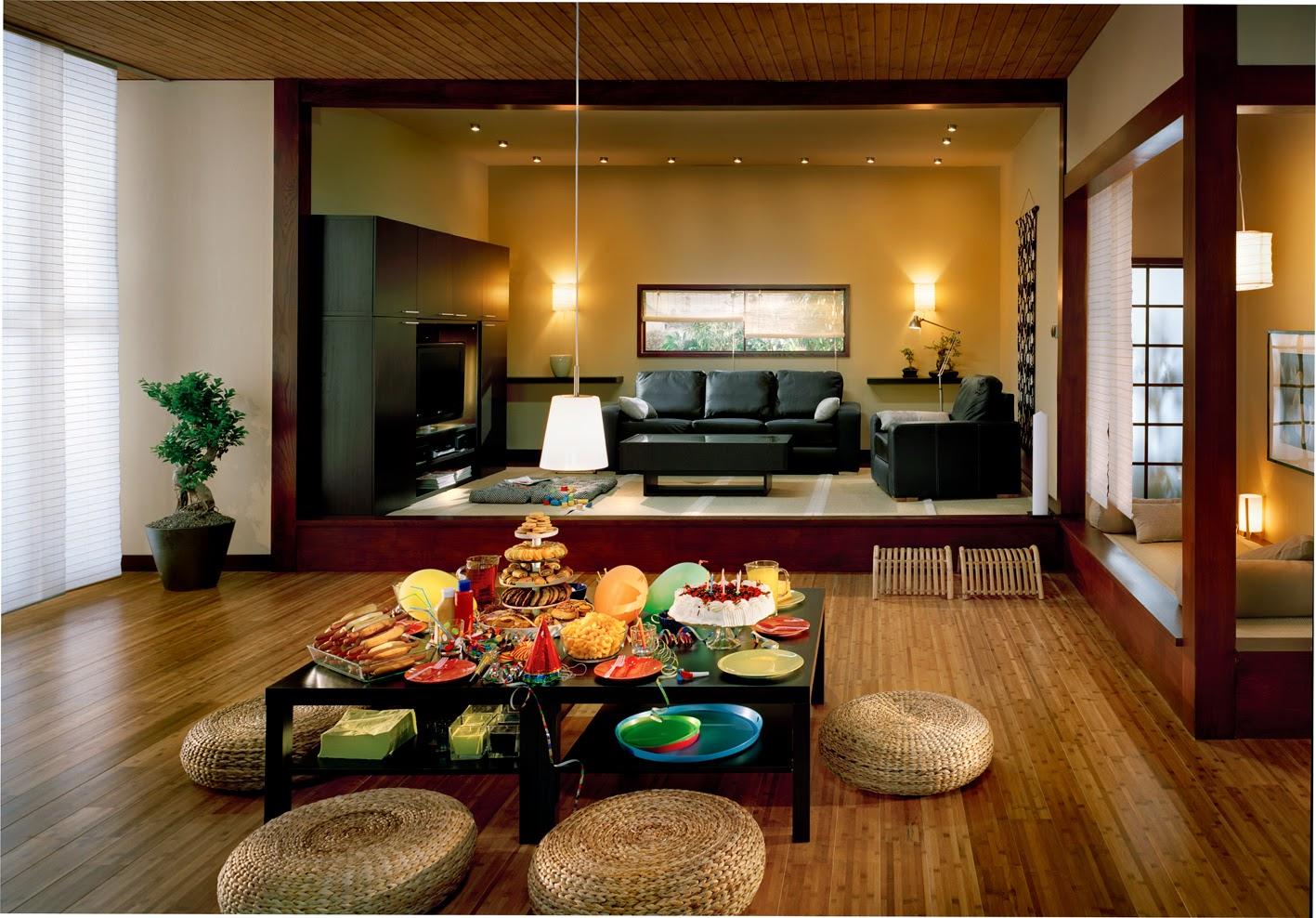 Contoh Ruang Tamu Gaya Jepang Modern