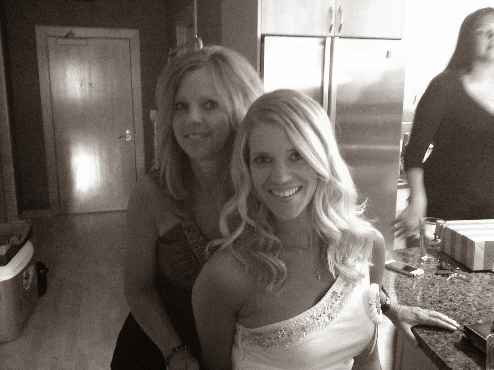 Mom and bride at bachelorette party