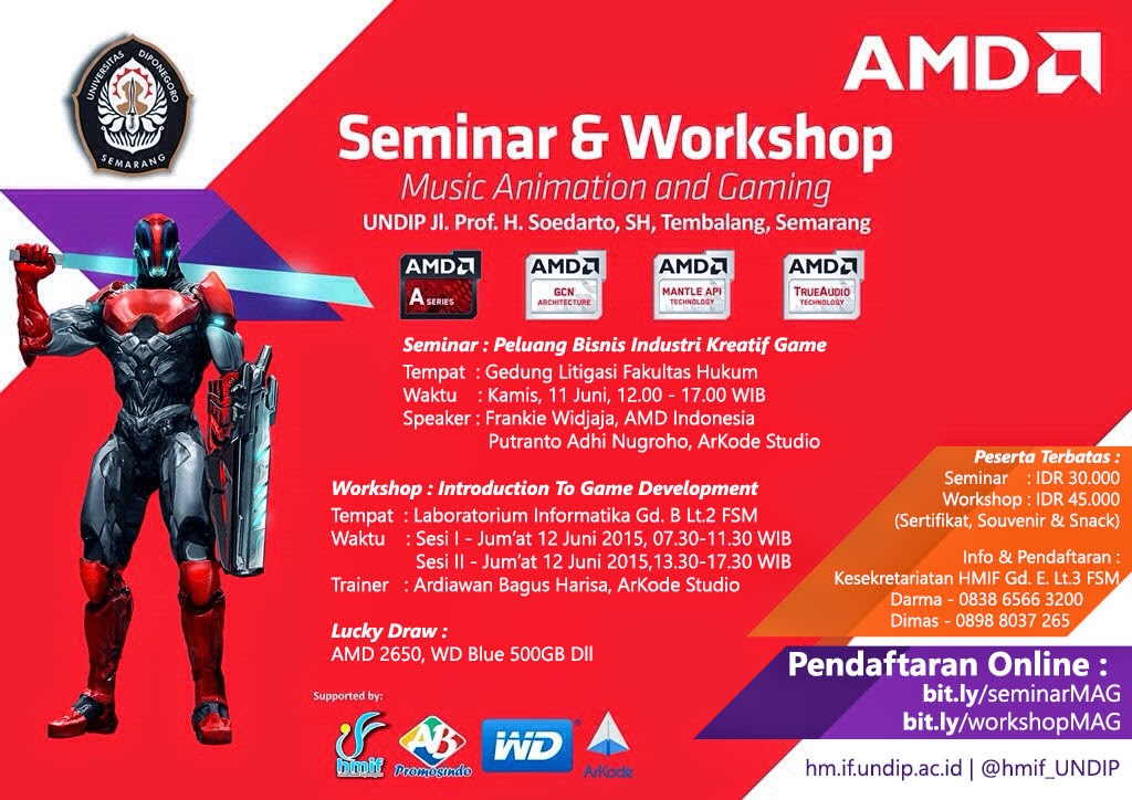 Seminar dan Workshop - Music Animation and Gaming