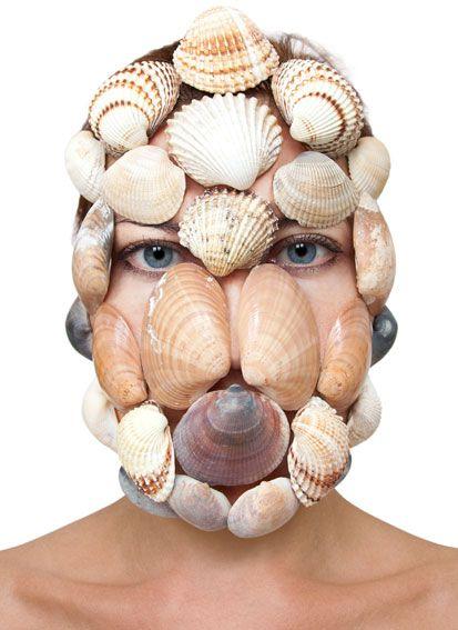 Barbora Bálková fotografia surreal máscaras Conchas