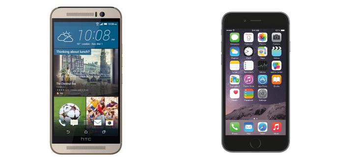 Perbandingan Ihone 6 dengan HTC One M9