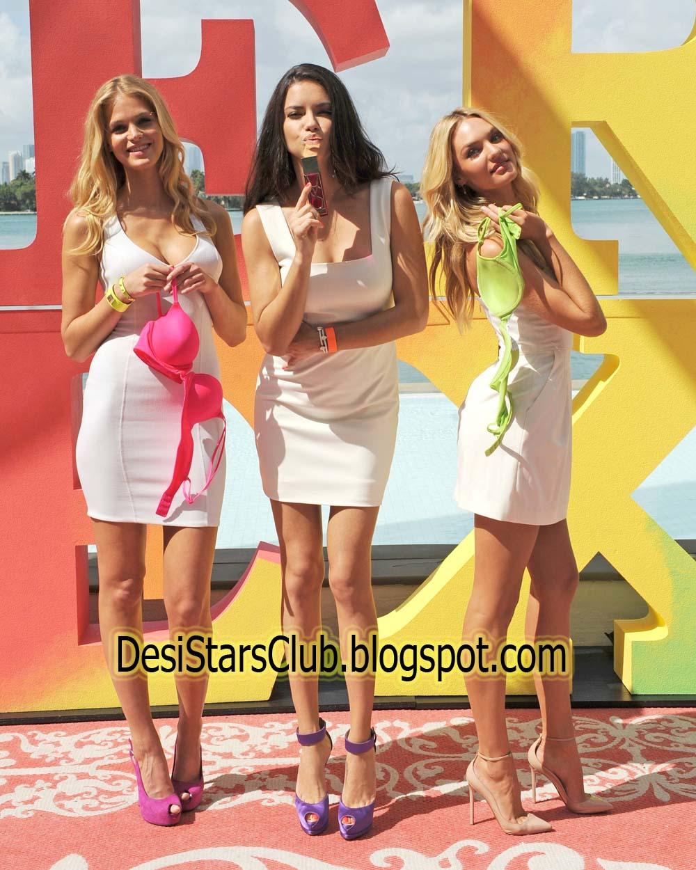 Victoria's Secret Jet Tour Photos
