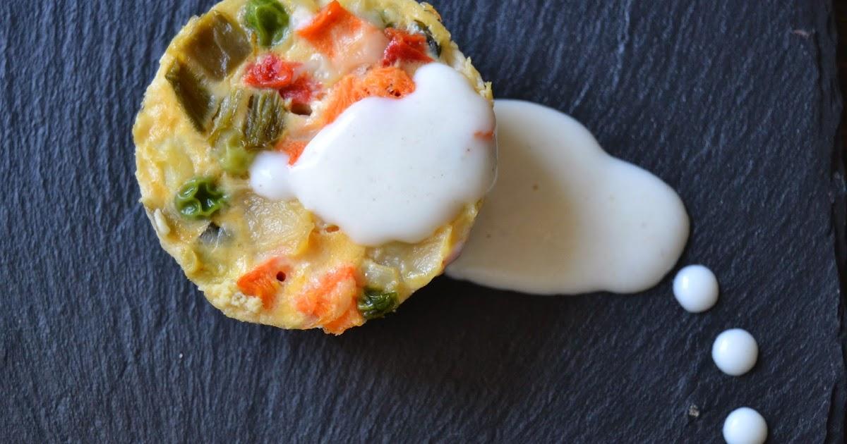 Mini pasteles de verduras con bechamel trufada sweet addict - Bechamel con nata para cocinar ...