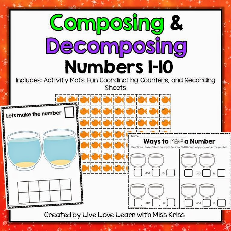 http://www.teacherspayteachers.com/Product/Composing-and-Decomposing-Numbers-1-10-1487353
