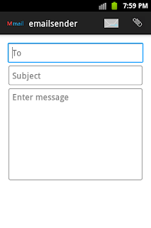 e-mail sender main interface