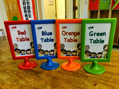 Cute Table Signs from Peace, Love and Learning - Freebie