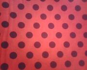 Tecido para sacos - Vermelho com Bolas pretas