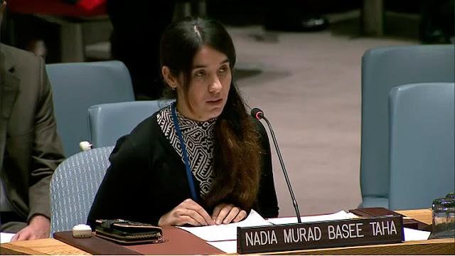 Escalofriante relato en la ONU de una esclava sexual del Estado Islámico