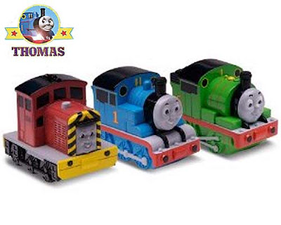 Diesel Salty Thomas and Percy the tank engine bathtub squirter toy bathroom playtime fun water games