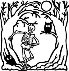 Skeleton Coloring Pages 11