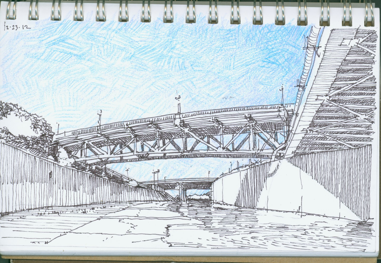 Day 178 drawing - Under the Bridge | drawing a day