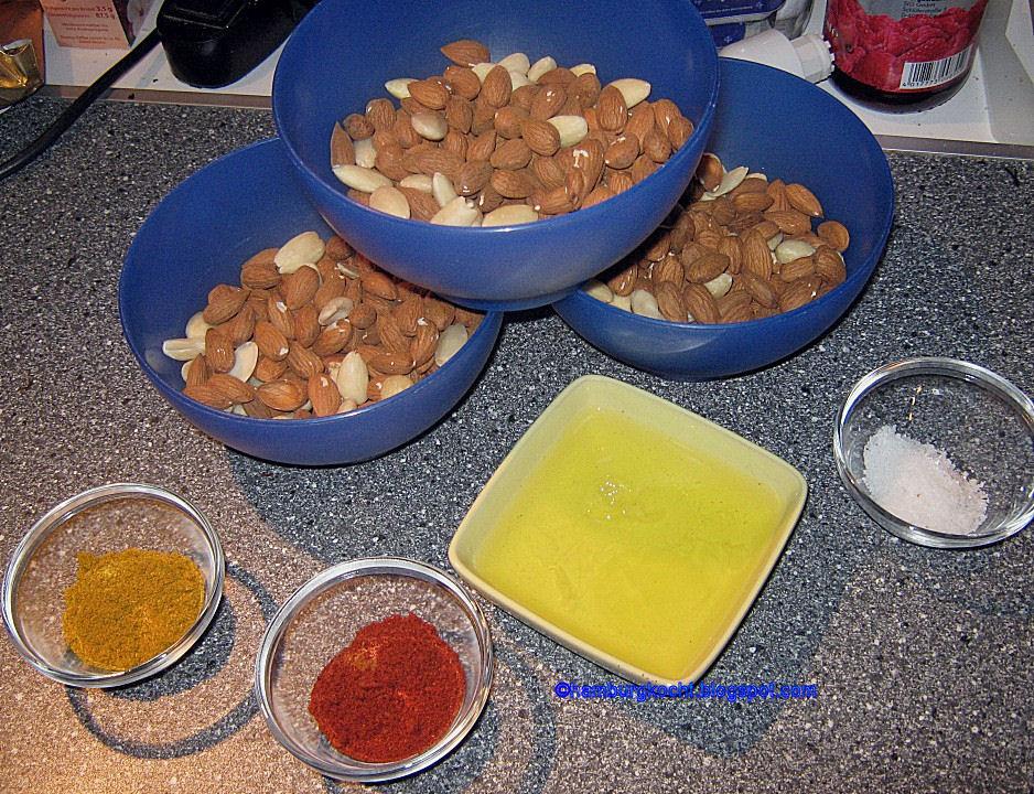 Hamburg kocht pikante gew rzmandeln mit curry paprika for Kochen ohne salz