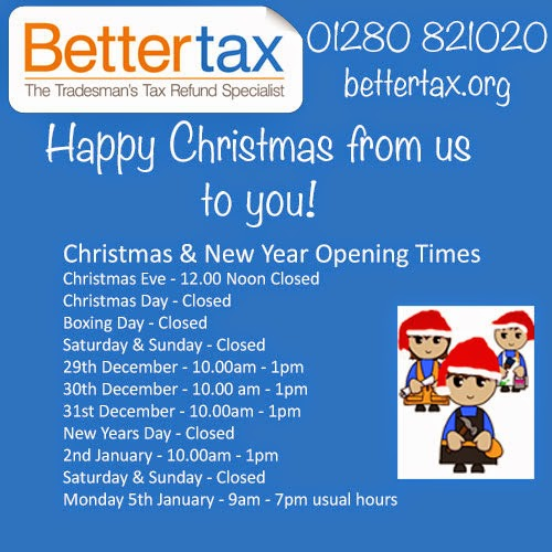 christmas 2014 bettertax opening times