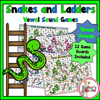Snake and Ladders Vowel Sound Games