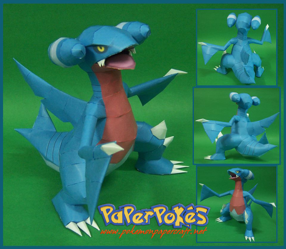 Pokemon Gabite Papercraft