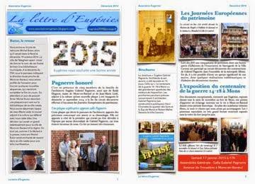 La lettre d'Eugénies de décembre 2014 avec les vœux pour 2015