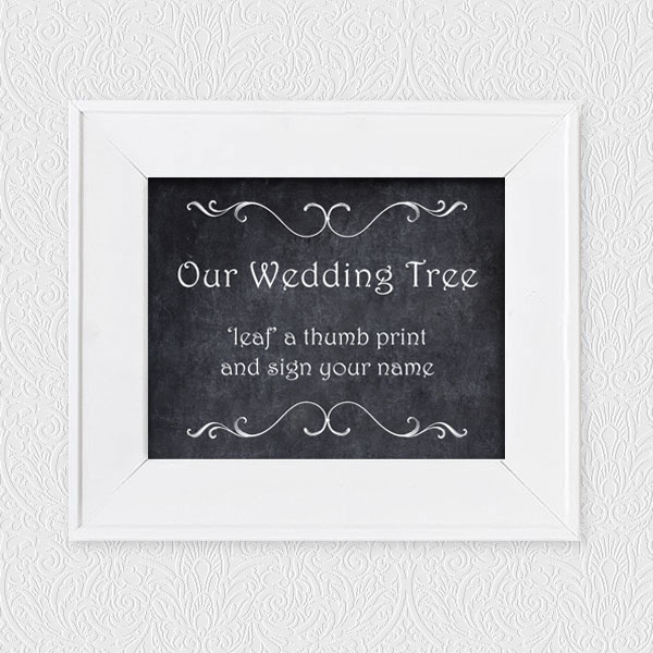 fingerprint tree guest book instructions