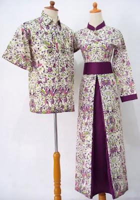 Model Gamis Batik Sarimbit Kombinasi